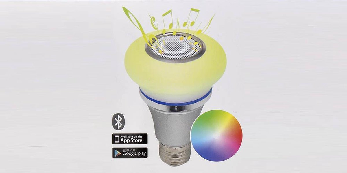 Led lamp bluetooth smart speaker lamp - audiosonic - met App - led lamp 16 miljoen kleuren - E27 -