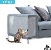 Pet-it | Krab schade bescherming voor Katten en Honden | 6 Stuks | Extra-Grote beschermers | voor Bank Meubel Interieur | Transparant