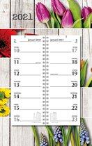 Afbeelding van Omleg weekkalender MGPcards 2021 - Omlegkalender - 2 weken overzicht - Bloemen - 21 x 34 cm