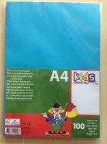 Gekleurd papier 100 st FSC A4 5 kleuren