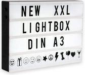 B.K.Licht -  LED Lightbox - letterbox - lichtbox - cadeautje - A3 met 120 letters - decoratieve verlichting