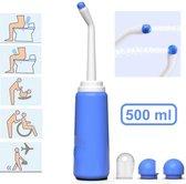 Vitamo™ Mobiele Bidet 500ml + 2 Sproeikoppen - Opbergzak - Draagbare Handdouche - Shattaf - Bespaar toiletpapier - Complete set