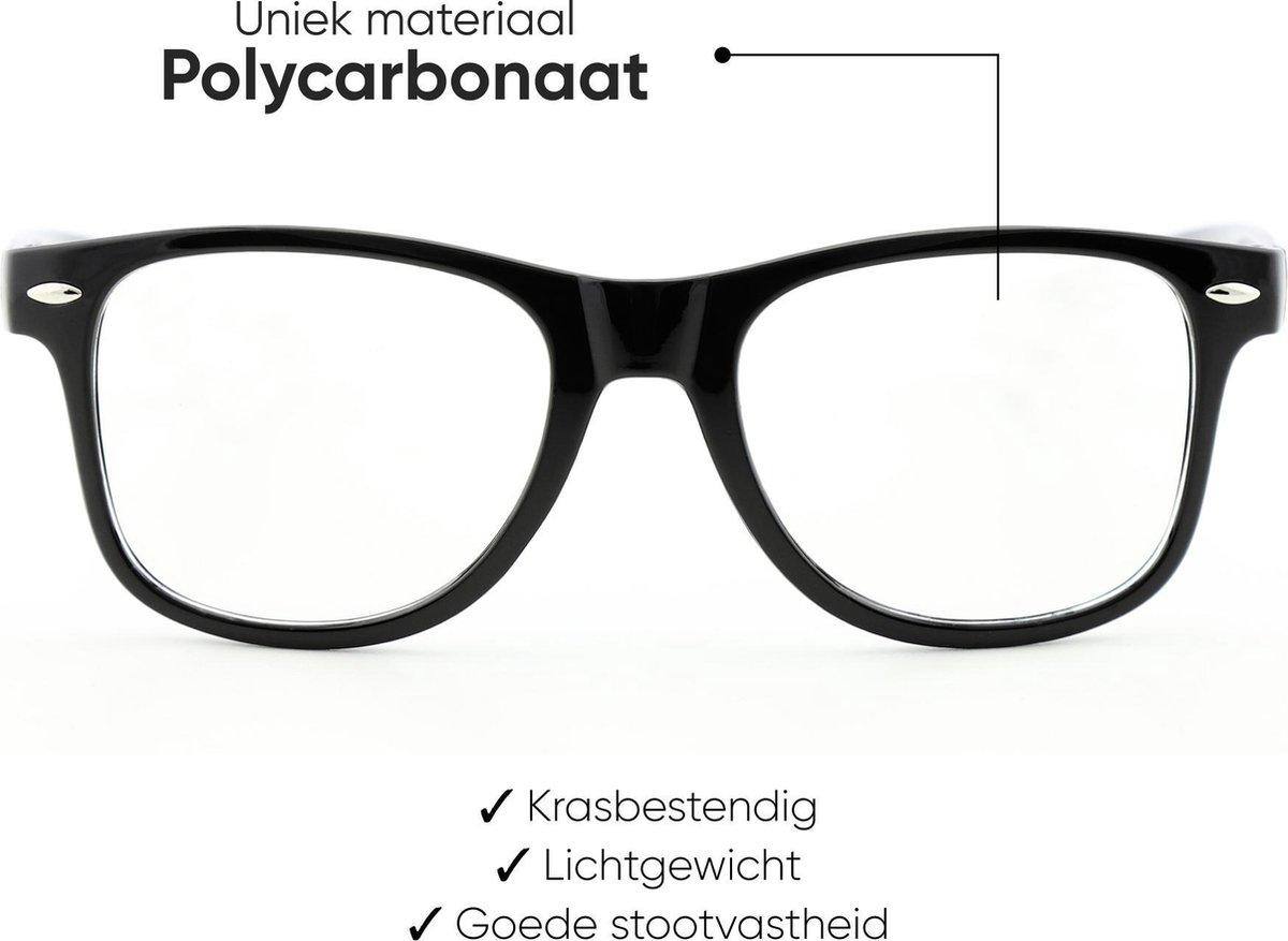 Rockerz Computerbril - Blauw Licht Bril - Blue Light Glasses - Unisex - Zwart