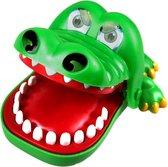 HaveFun Krokodil met Kiespijn - Kinderspel - Bijtende Krokodil - Partyspel – Zonder Batterijen – Drankspel - Reisspel - Shot spel - Tandarts - Groene Krokodil