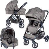 Bebies First Optima Combi Kinderwagen groen (incl. autostoel)