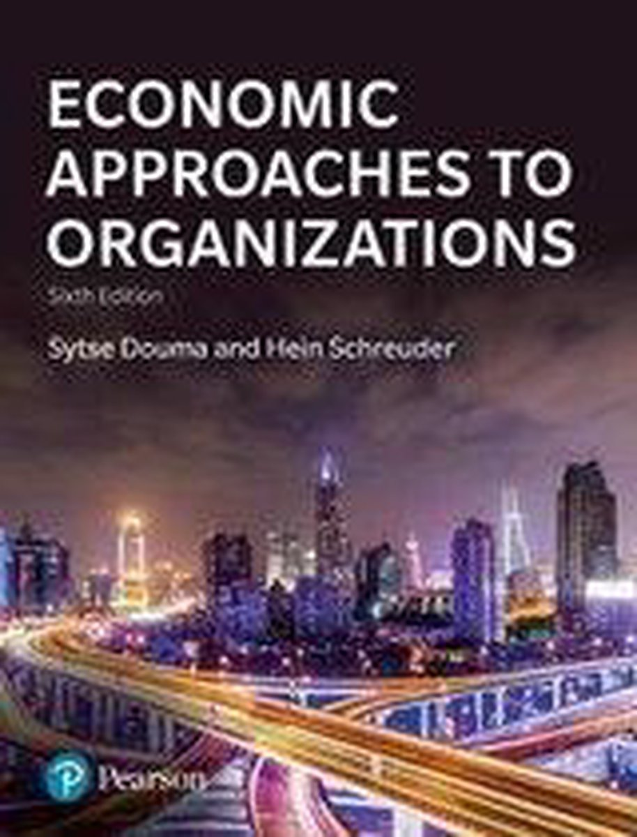 Economic Approaches to Organization - Sytse Douma