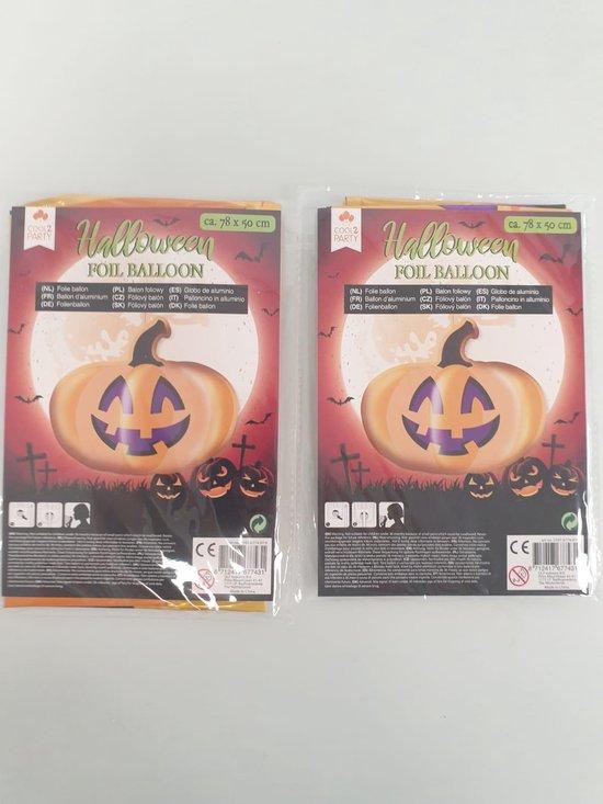 Halloween folie ballon 2x
