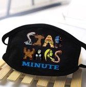 Wasbaar mondkapje Starwars print 'tekst StarWars minute'