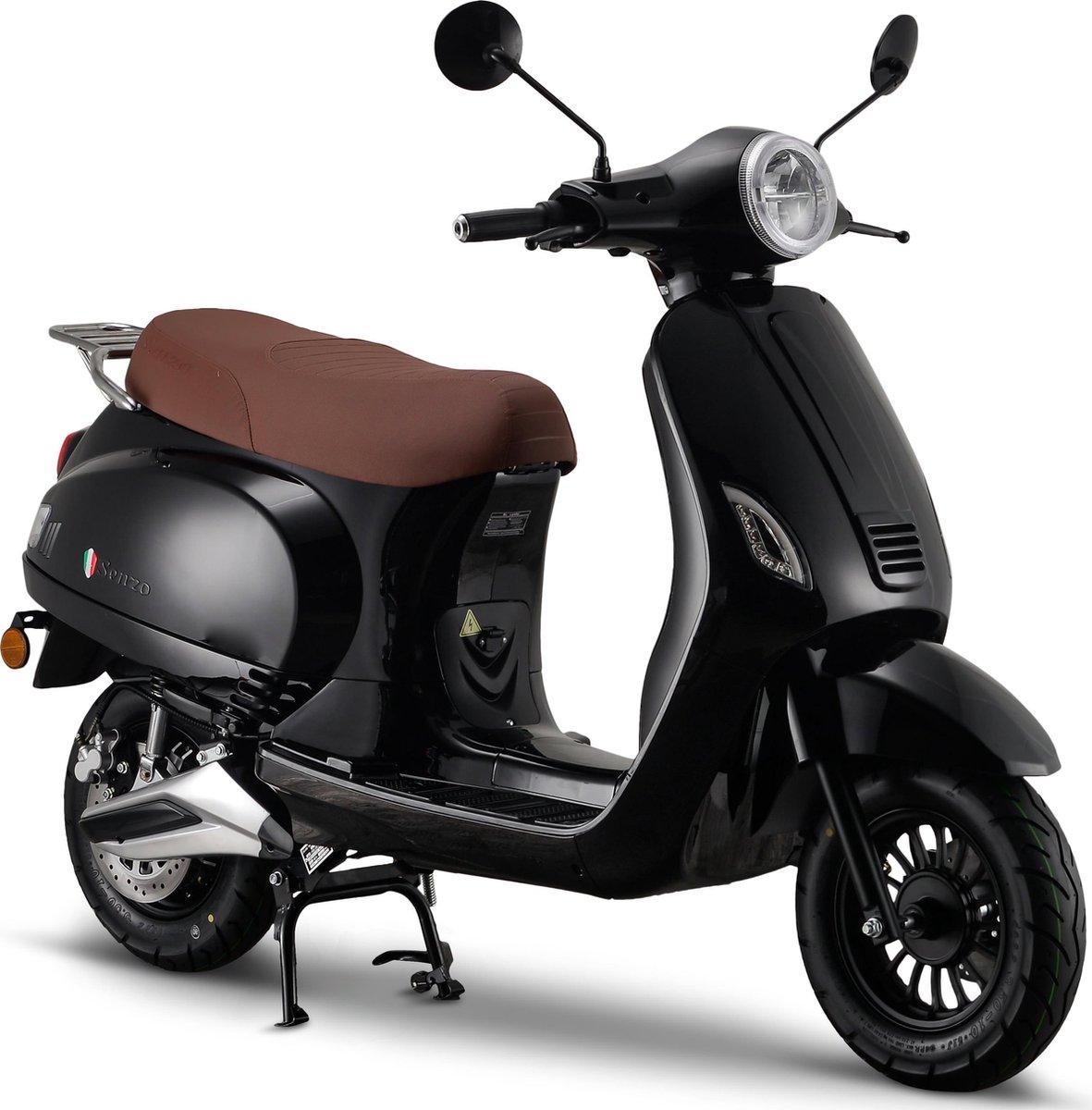Senzo RivaLux Elektrische Scooter Zwart