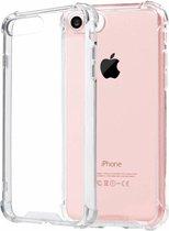 Transparant tpu siliconen case backcover hoesje voor iPhone 8 Plus (verstevigde randen)