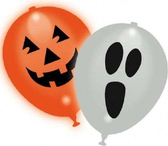 LED Ballonnen Halloween Face 30cm – 5 stuks