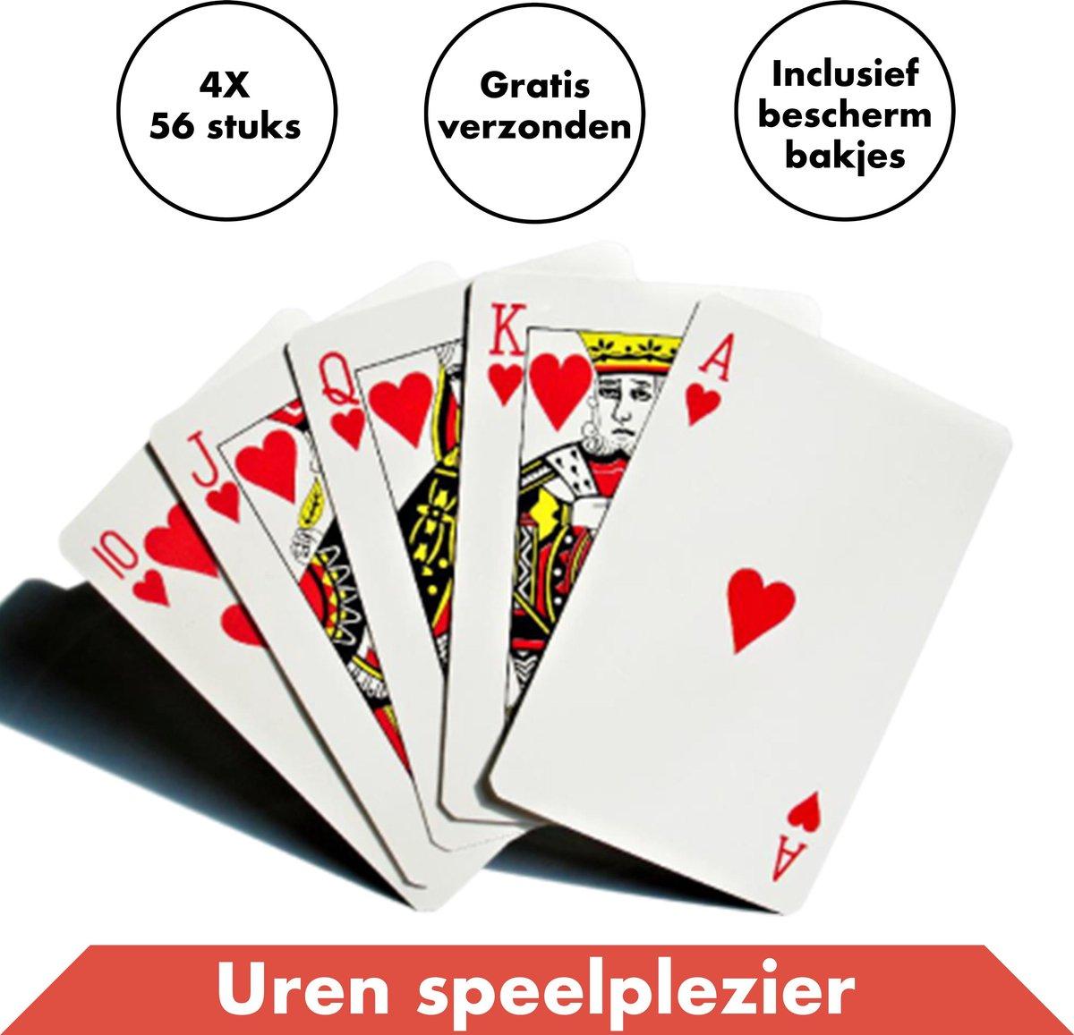 Speelkaarten 4 Decks / Stokken - Spelkaarten - Kaarten - Kaartspellen - Pesten - Klaverjassen - Toepen - Poker - Jokeren - Eenentwintigen - Eenendertigen - Kwartetten - Bridge - Hartenjagen - Patience - Solitaire - Ezelen - Liegen - Spel - Blackjack
