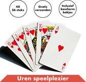 Speelkaarten 4 Decks / Stokken – Spelkaarten – Kaarten - Kaartspellen - Pesten – Klaverjassen – Toepen – Poker – Jokeren – Eenentwintigen – Eenendertigen – Kwartetten - Bridge – Hartenjagen – Patience – Solitaire – Ezelen – Liegen – Spel – Blackjack