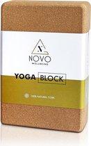 Yoga Blok |100% Kurk | Stabiliteit Anti slip Grip | 22,5 x 15 x 7.5 cm