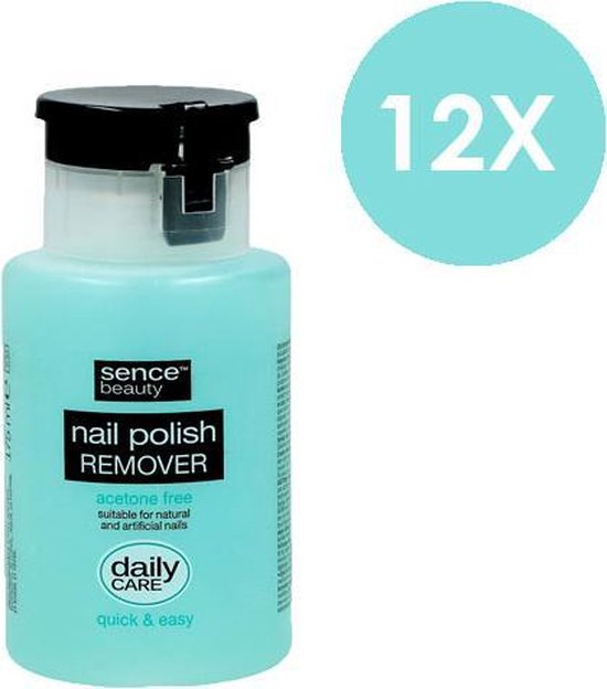 Bol Com Sence Beauty Nail Polish Remover Pump Aceton Free 12 X 175 Ml Voordeelverpakking