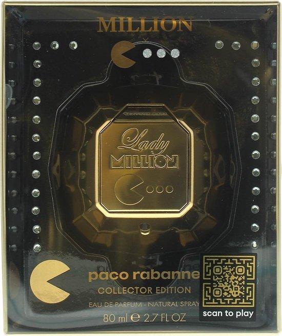 Paco Rabanne Lady Million Pac-Man Collector Edition - 80 ml - eau de parfum spray - zelfde geur, speciale verpakking
