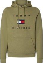 Tommy Hilfiger Trui - Mannen - olijfgroen/navy/wit