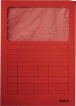 Leitz A4 Venstermap Duurzame Manilla Karton - Rood - 1 Stuk