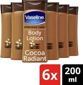 Vaseline Cocoa Bodylotion - 6 x 200 ml - Voordeelverpakking