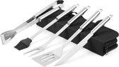 5-delige BBQ Tool Set + GRATIS BBQ Grill Mat | Herbruikbaar | Barbecue benodigdheden | Tuin | Picknick |100% Non-stick | 100% Roestvrij staal