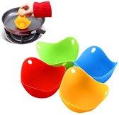 Ei Pocheerder - Siliconen BPA vrij - Eieren Pocheren - Eierkoker - Egg Benedict - Keuken accessoire