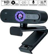 Pro Webcam voor pc met microfoon – Autofocus - 1920x1080 FULLHD 30FPS - Windows & Mac - Webcam voor pc met usb