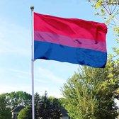 Biseksuele Vlag - 90x150cm - 100% Polyester - UV en weerbestendig - met versterkte mastrand & messing ogen