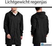 Sandesen® Unisex Regenjas Zwart Maat M
