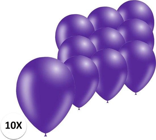 Paarse Ballonnen 10St Feestversiering Verjaardag Ballon