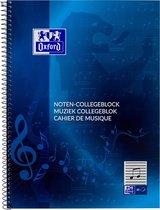 Oxford - Muziekblok - A4 - Blauw