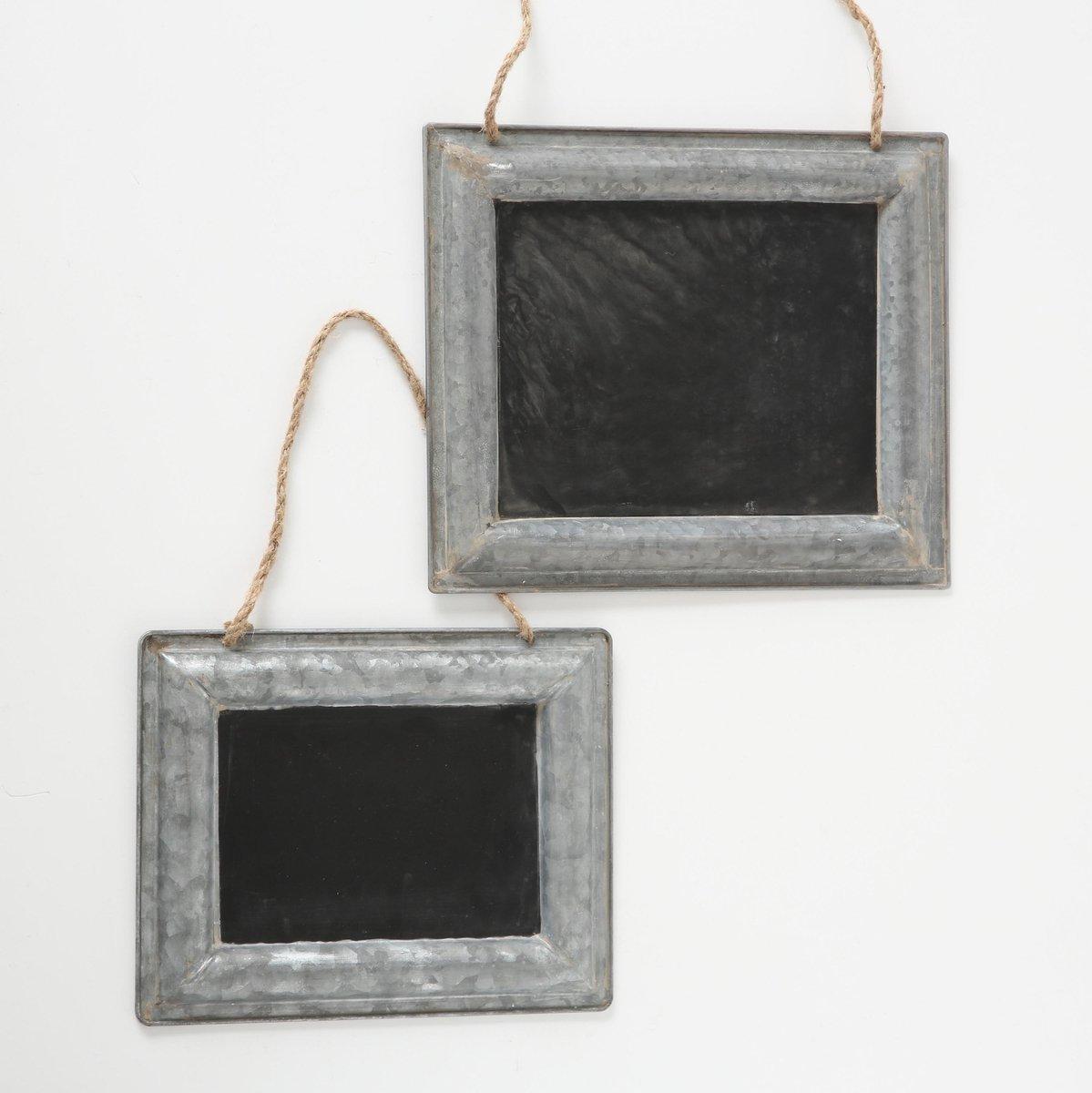 Merkloos / Sans marque Zinken krijtbord/memobord set van 2 stuks Takenlijst bordjes Boodschappenlijstje Woondecoraties Wanddecoratie/muurdecoratie online kopen