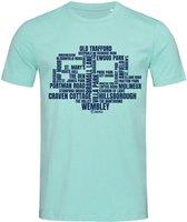 Stedman T-shirt Voetbal | Beroemde Voetbalstadions Engeland James | STE9200 Heren T-shirt Maat S
