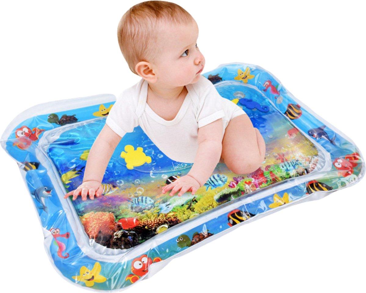 Baby Waterspeelmat   Opblaasbaar - Watermat   Speelmat - Waterspeelgoed -  Babyshower Cadeau   Kraam