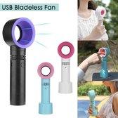 LifeLoom® Portable Mini Hand Ventilator - USB Ventilator Oplaadbaar - Draagbare Ventilator - Met Tafel Standaard - Zwart