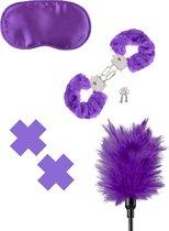 Fetish Fantasy Series 4-dlg. Set Purple Pleasure Kit (paars)