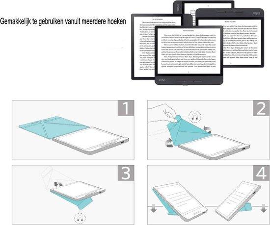 Achaté - Kobo Libra H2O Hoes Met Magnetische Sluiting en Auto Sleep Functie - Origami - Amandelbloesem van Gogh - Limited Edition - High Quality