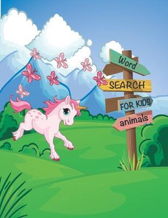 Word Search Books for Kids: Fun and Educational Puzzles with Animals Theme and more