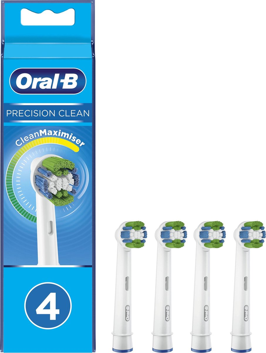 Oral-B Precision Clean - Met CleanMaximiser-technologie - Opzetborstels - 4 Stuks