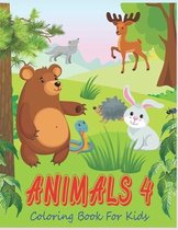 Animals 4 Coloring Book For Kids