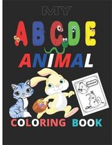 MY a b c animal coloring book