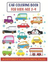 Car Coloring Book For Kids Age 2-4