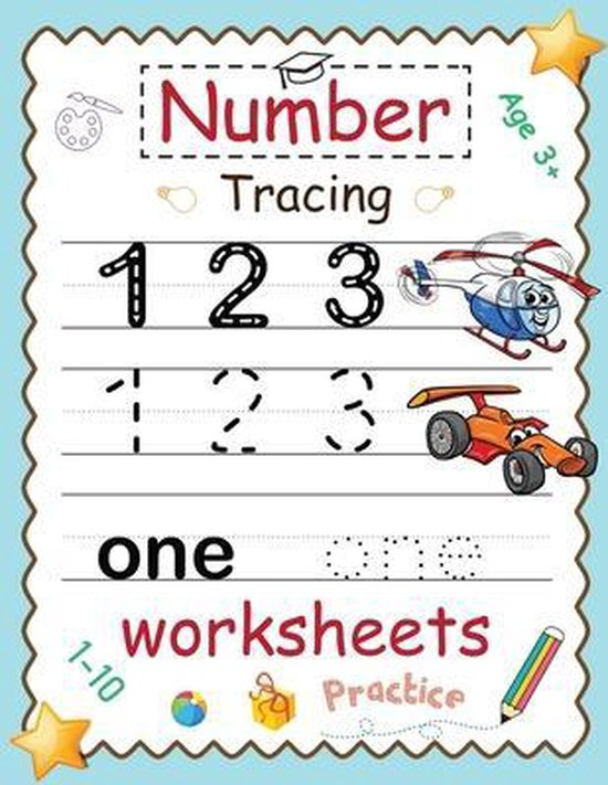 Number Tracing Worksheets 1-10 Practice