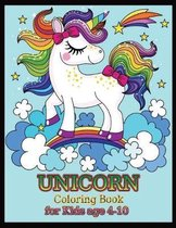 UNICORN coloring book for kids age 4-10