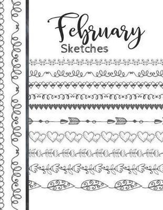 February Sketches: Astrology Sketchbook Activity Book Gift For Women & Girls - Daily Sketchpad To Draw And Sketch In As The Stars And Pla