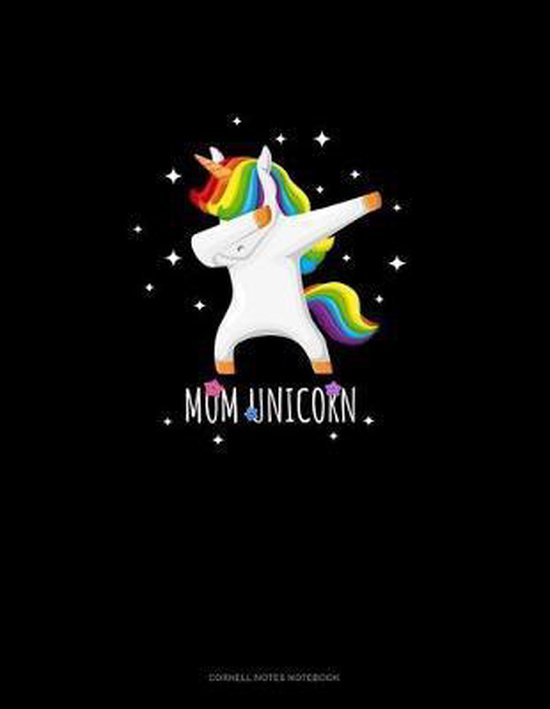 Mom Unicorn: Cornell Notes Notebook