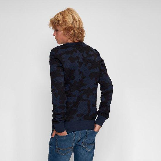 Blue Black Amsterdam Jongens Trui Mathijs 2.0 - Blauwe Camouflage - Maat 152