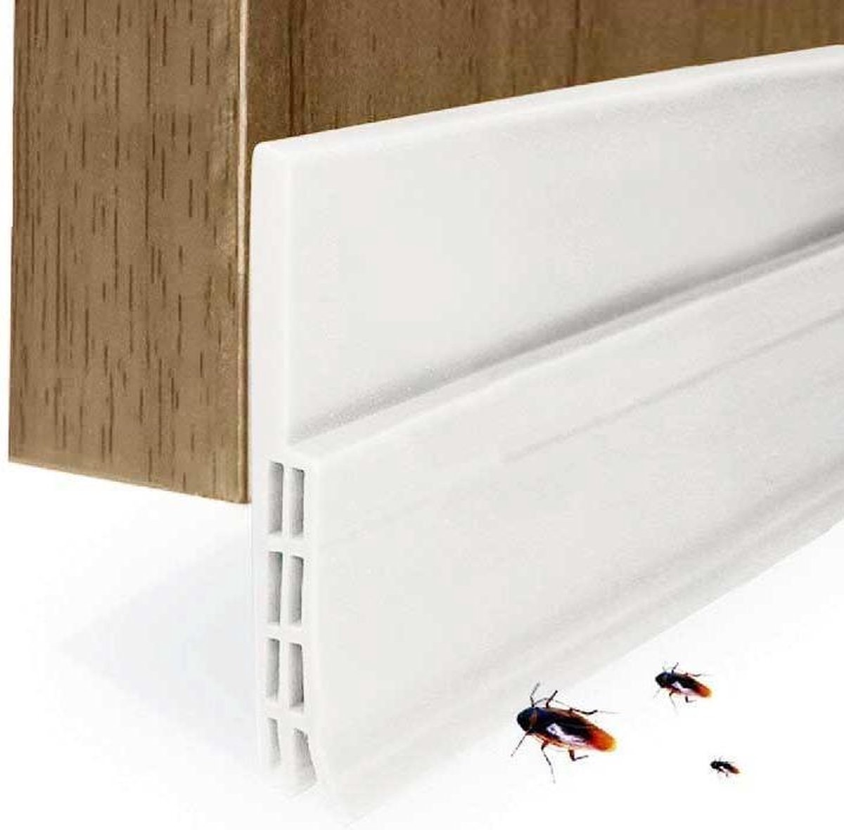 Rori - Aanpasbare Tochtstopper - Zelfklevende tochtstrip voor deuren - Wit - 100 cm x 5 cm