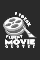 I speak fluent movie quotes: 6x9 Movies - grid - squared paper - notebook - notes