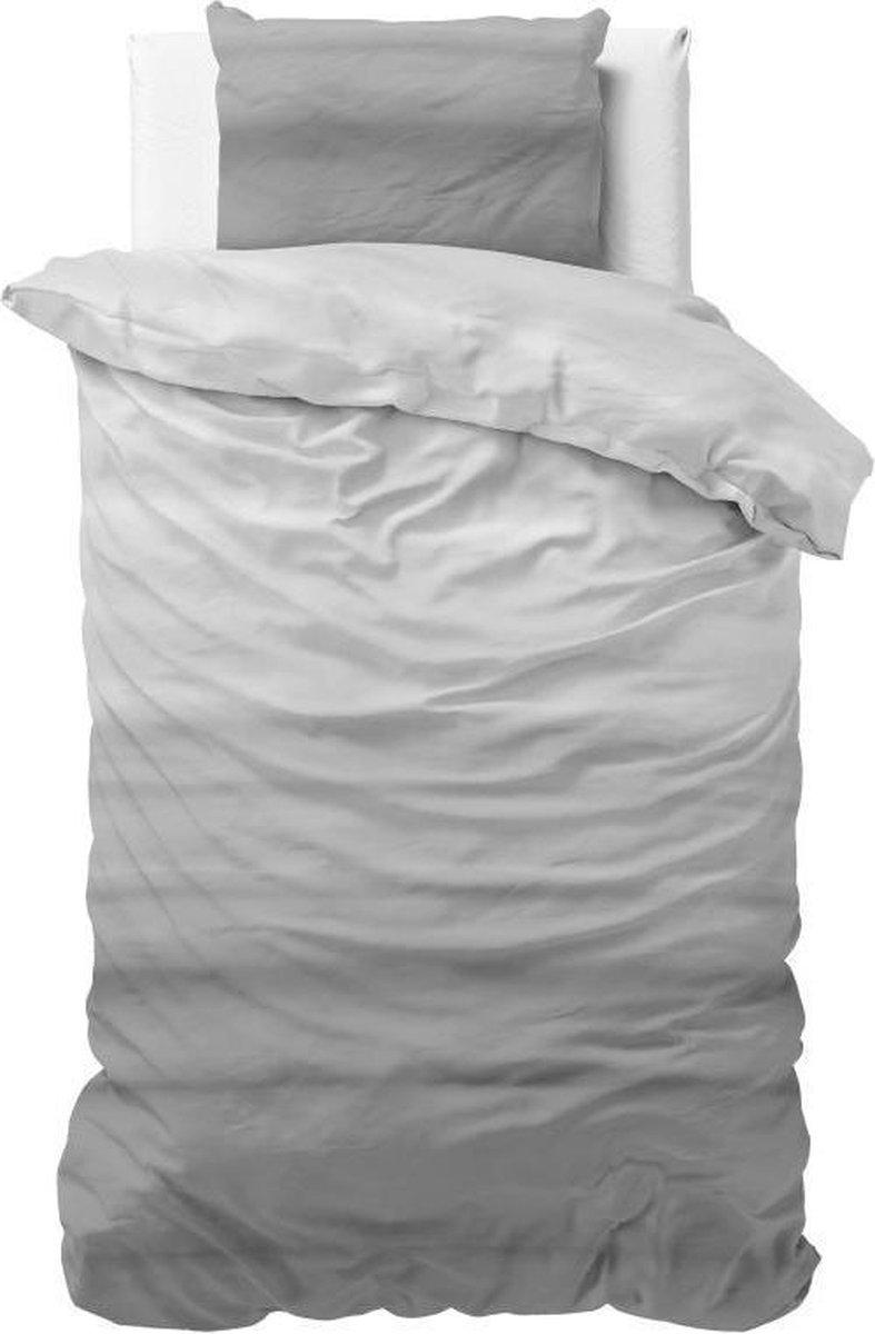Sleeptime Degra - Dekbedovertrek - Eenpersoons - 140x200/220 + 1 kussensloop 60x70 - Antraciet kopen