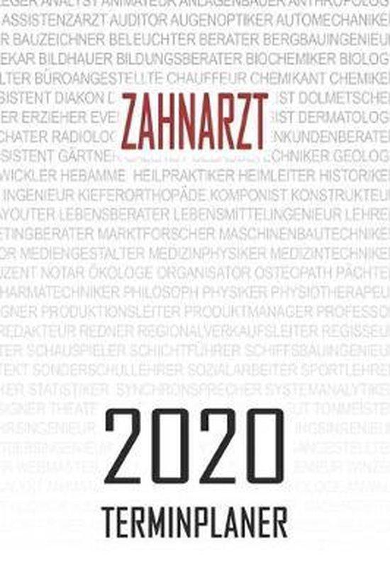 Zahnarzt - 2020 Terminplaner